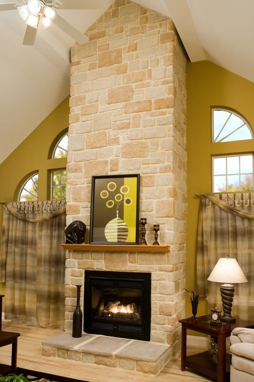 Fireplace Windows With Quarter Round Modular Homes By