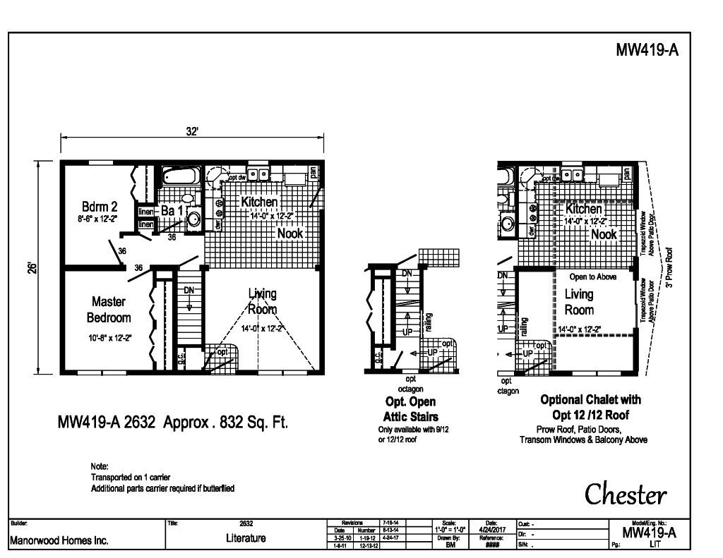 Manorwood Ranch Cape Homes Chester MW419A – Manorwood Homes Floor Plans