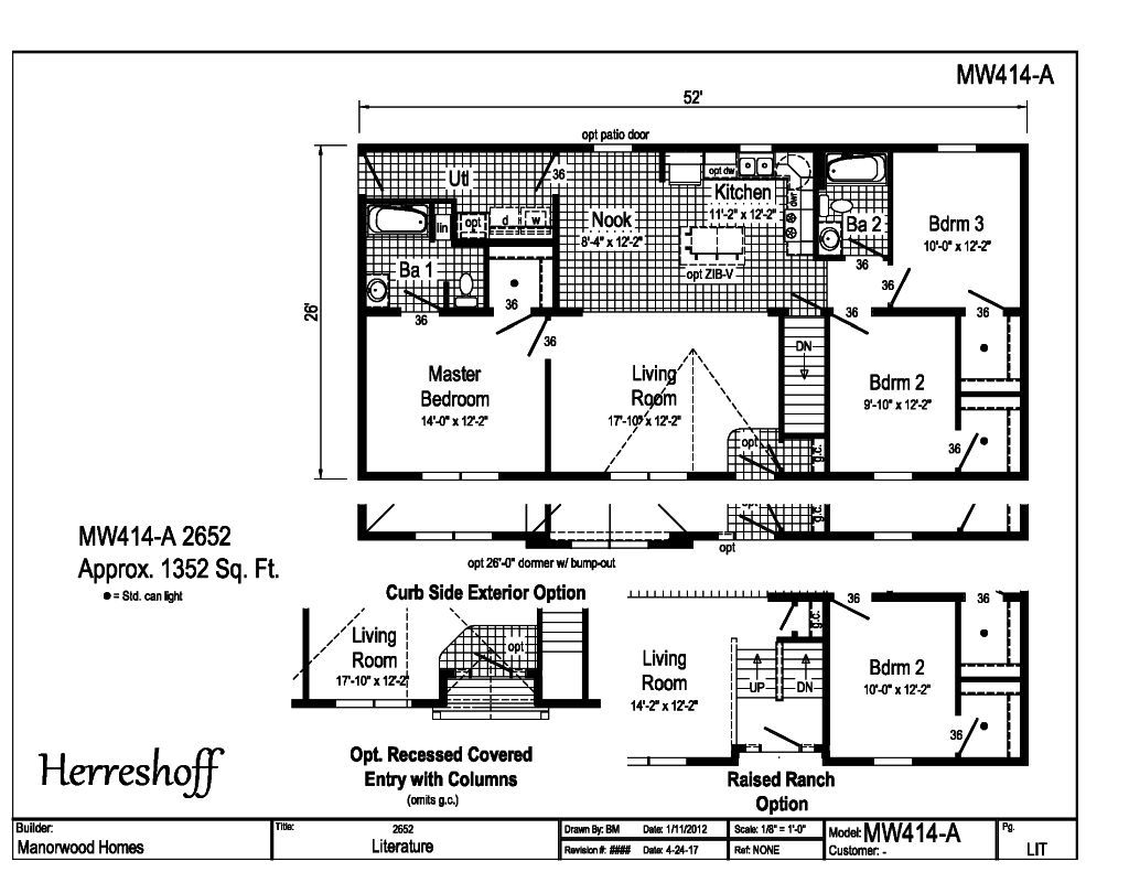 Manorwood Ranch Cape Homes Herreshoff MW414A – Manorwood Homes Floor Plans