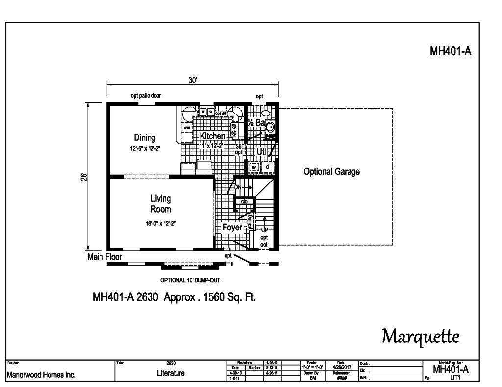 Manorwood Two Story Homes Marquette MH401A – Manorwood Homes Floor Plans