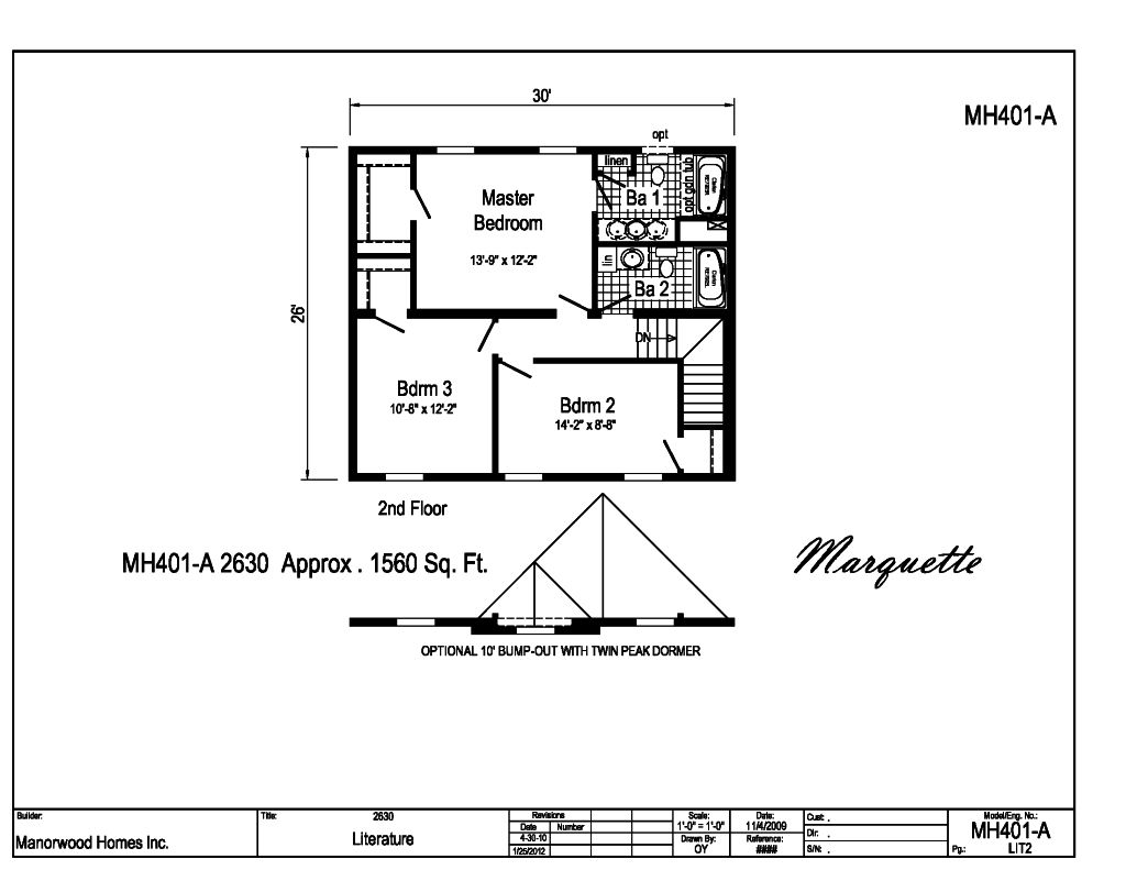 Manorwood Two Story Homes Marquette Mh401a Find A