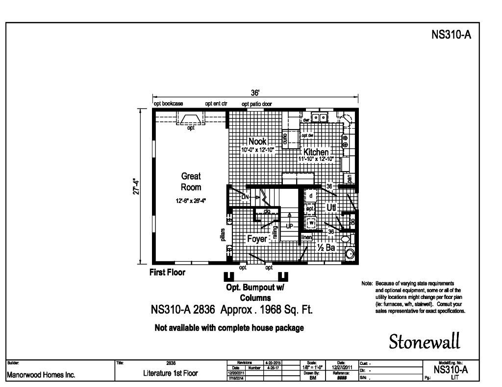 Manorwood Two Story Homes Stonewall NS310A – Manorwood Homes Floor Plans