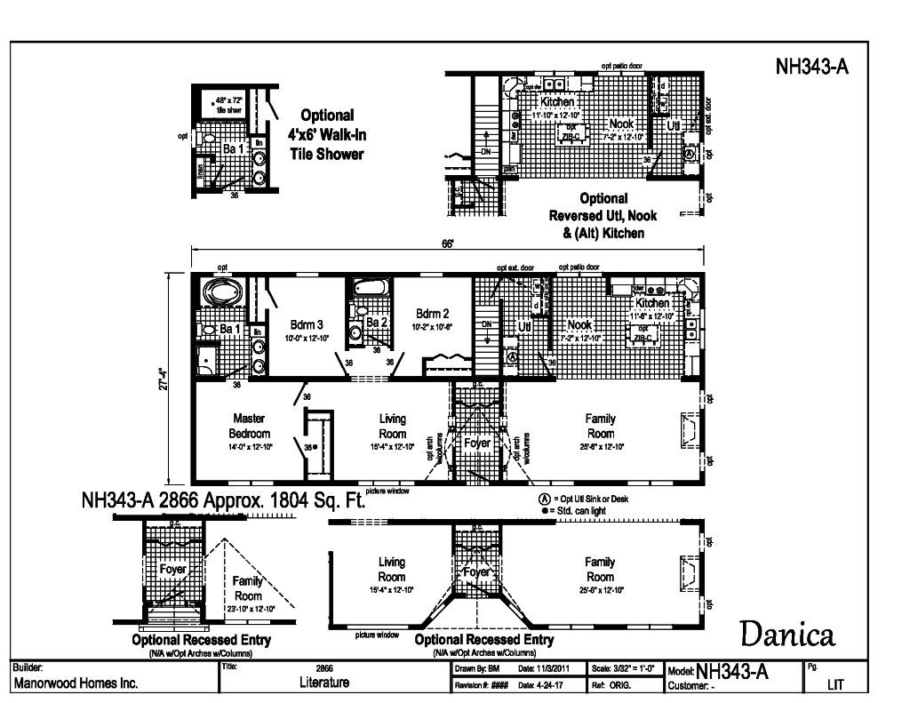 Manorwood Ranch Cape Homes Danica NH343A – Manorwood Homes Floor Plans