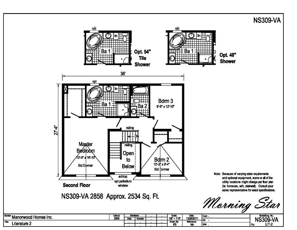 manorwood two story homes lone star ns309a find a home Electrical Sub Panel for Garage in addition bath 2 is easily accessible from bedrooms 2 and 3 also available with this floorplan is a factory built garage attached