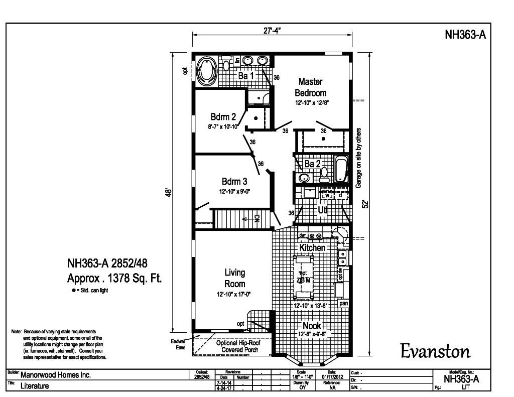 Manorwood Ranch Cape Homes Evanston NH363A – Manorwood Homes Floor Plans