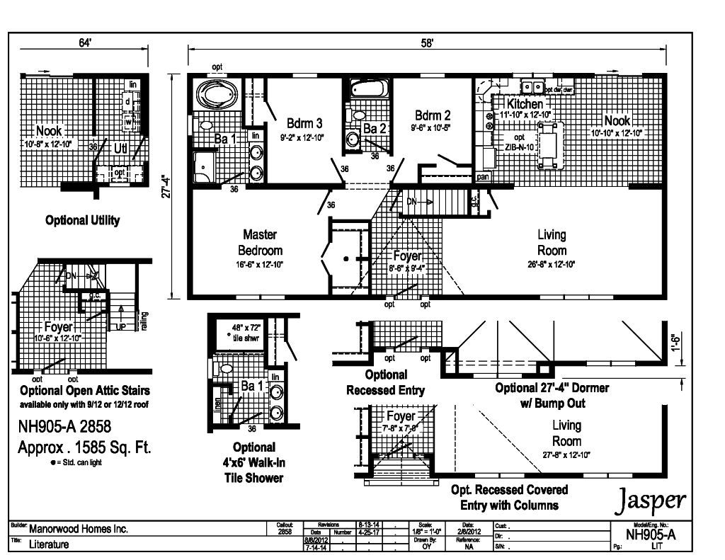 Manorwood Ranch Cape Homes Jasper NH905A – Manorwood Homes Floor Plans