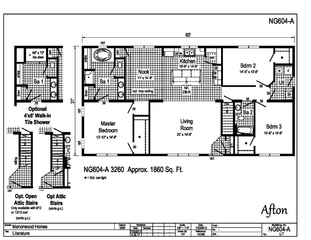 Manorwood Ranch Cape Homes Afton NG604A – Manorwood Homes Floor Plans