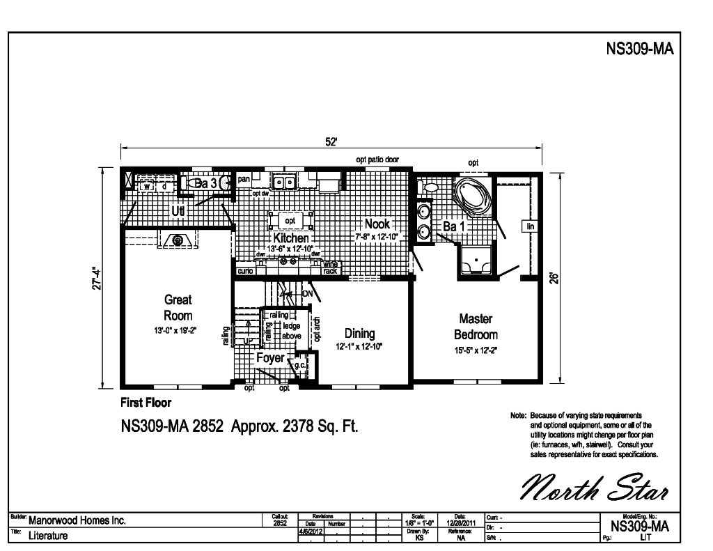Manorwood Two Story Homes North Star NS309MA – Manorwood Homes Floor Plans