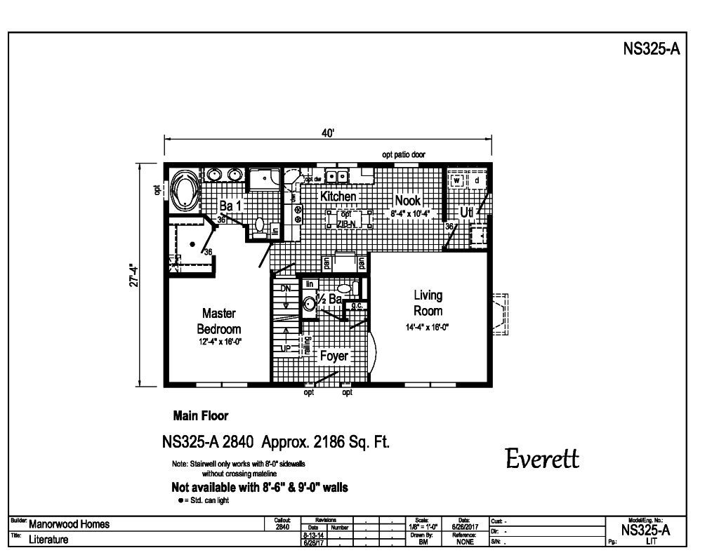 Manorwood Two Story Homes Everett NS325A Find a Home – Manorwood Homes Floor Plans