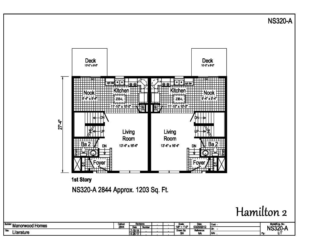 Manorwood Two Story Homes Hamilton 2 NS320A – Manorwood Homes Floor Plans