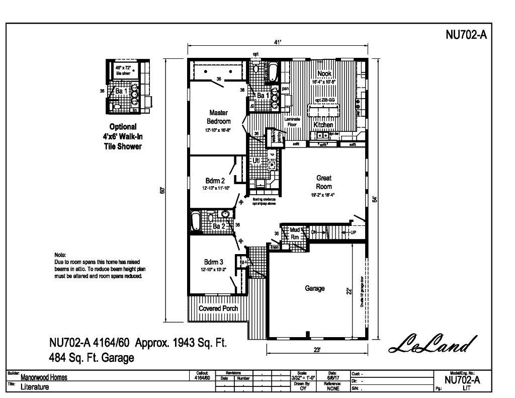 Manorwood Ranch Cape Homes Le Land NU702A – Manorwood Homes Floor Plans